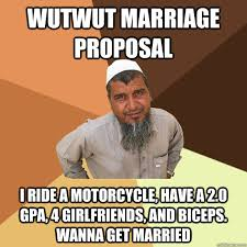 Meme Marriage Proposal - wutwut marriage proposal i ride a motorcycle have a 2 0 gpa 4