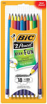 amazon com bic pencil xtra fun 2 hb 18 count office products