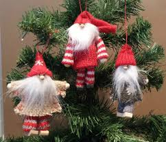 details about knitted u0026 wood father christmas santa hanging tree