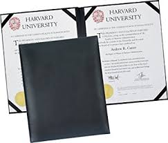 diploma cover dual leather certificate menu holder or wine list