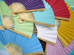 cheap paper fans 9 gold paper fans for weddings premium paper stock 10 pack