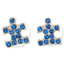earrings pic swarovski puzzle earrings autism speaks