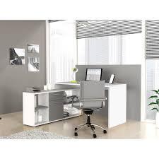 bureau gris blanc finlandek bureau d angle työ classique blanc et gris l 140 cm