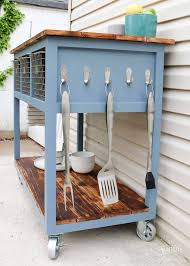 kitchen island grill diy mobile island grill cart diy huntress