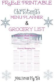 christmas dinner shopping list template christmas shopping gift