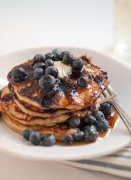 blueberry pancake recipe gluten free peach and oat pancakes cookie and kate