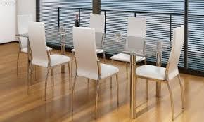 Esszimmer Stuehle Esszimmer Stühle 6er Set Weiß Chrom U0026 Kunstleder Zug Tutti Ch