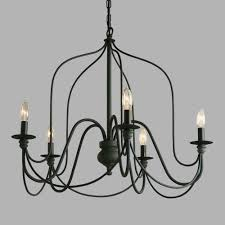 Chandelier Canopy by Our Exclusive Rustic Wire Chandelier Features A Slender Silhouette