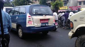 bentley bangalore toyota innova facelift caught testing in bangalore