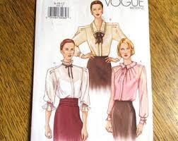 vogue blouse pattern etsy