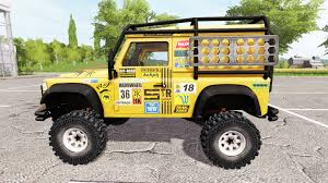 land rover defender 90 yellow rover defender 90 dakar for farming simulator 2017