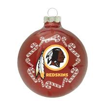nfl washington redskins traditional glass ornament pro
