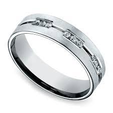 mens eternity rings diamond eternity men s wedding ring in white gold