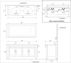 luxury collection of bathroom vanity dimensions cabinets