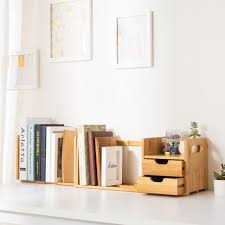 Bamboo Desk Organizer Ollieroo Bamboo Desk Organizer With Extendable Storage Drawers For