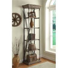Reclaimed Wood And Metal Bookcase Rc Willey Sells Bookcases For Your Home Office