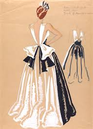 How To Draw Fashion Designs Interpreting Narrative 1940 U0027s Fashion Designers Insp Sketches