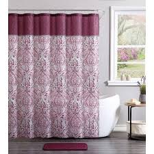 Damask Bath Rug Vcny Home Burgundy Ava Damask 14 Piece Bath Set Shower Curtain