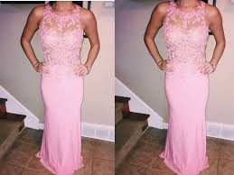 blush pink prom dresses vintage prom gown women boho long sleeves