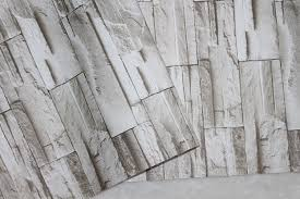 Self Stick Wallpaper by Faux Stacked Stone Peel Stick Wallpaper Lt Grey Brick Self