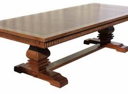 Dining Room Trestle Table Rochester 72u201d Brown Maple Trestle Dining Table Room Scene