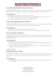 Walgreens Resume Video Editing Resume