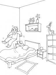dessin chambre enfant coloriage chambre de garçon à imprimer sur coloriages info