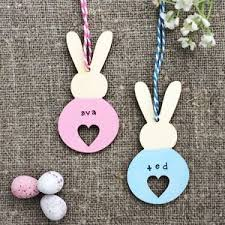 easter bunny decorations personalised heart bunny easter decoration by s