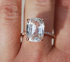 white sapphire wedding rings best 25 white sapphire engagement rings ideas on