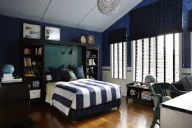 bedrooms awesome boy bedroom with blue bed also shelves and