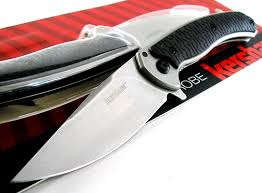 Kershaw Kitchen Knives Kershaw Strobe Folder Stonewashed Flipper Kvt Ball Bearing Opening