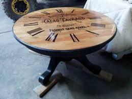Clock Coffee Table Coffee Table Chocolate Ad W Clock Distressed