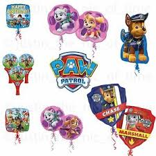 helium birthday balloons paw patrol rescue pups party foil balloon helium birthday balloons