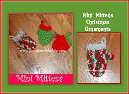 mini mitten christmas ornament crochet pattern youtube
