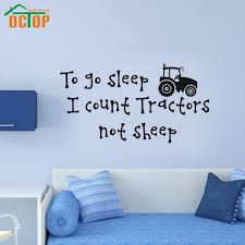 online get cheap sheep wall decals aliexpress com alibaba group i count tractors not sheep wall stickers boys room home decor vinyl sticker removable wall decals