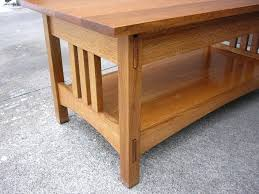 solid oak mission style coffee table craftsman style coffee table solid oak coffee table medium size of