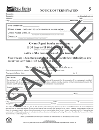 letter of termination of services orha oregon rental housing association online forms store