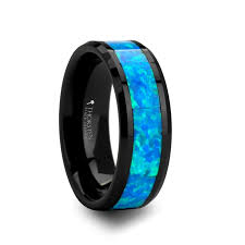 black and blue wedding rings home wedding bands for both
