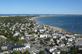 file view of provincetown from pilgrim monument looking east ma