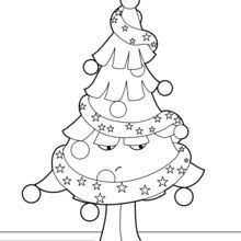 decorated christmas tree coloring pages hellokids