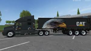 kenworth trailers eagle eye kenworth cat truck and eagle eye semi trailer by