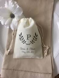 muslin favor bags wedding favor bags with quote all because two wedding