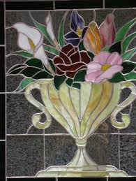 Flower Glass Design 548 Best Stained Glass Flowers Images On Pinterest Stained Glass