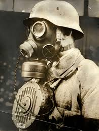 using a gas mask in the old days made you into a mute the german