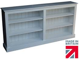 low white painted bookcase 6ft wide extra deep display shelving