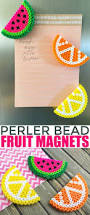 Pinterest Crafts For Kids To Make - fruit perler bead magnets craft activities perler beads and magnets