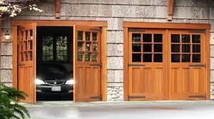 modern three car garage door with one single doorone opener width
