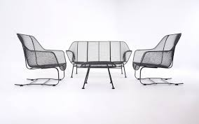 Russell Woodard Patio Furniture - russell woodard sculptura patio set with settee lounge chairs and