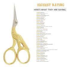 amazon com stork scissors 4 53 inch gold sewing scissors