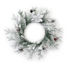 white wreaths garlands target